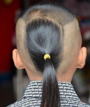 小孩头发后面有个小尾巴的造型 有小尾巴的发型大全
