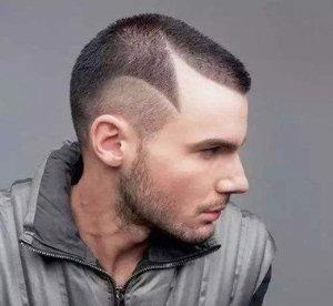 样式简单的寸头刻痕设计图片大全 做超前卫头发刮痕不如试试寸头款