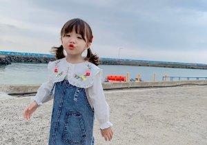3岁女孩萌萌哒短发扎发设计 女幼童创意扎发一点都不难 妈妈:回去就扎