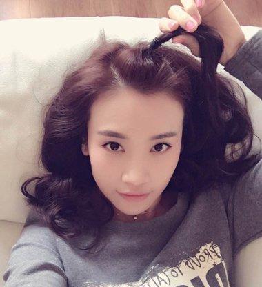 韩国女生苹果头扎法 长发做仙范儿的扎发
