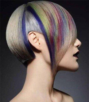晕染头发发接线图片 这样别具一格的染发