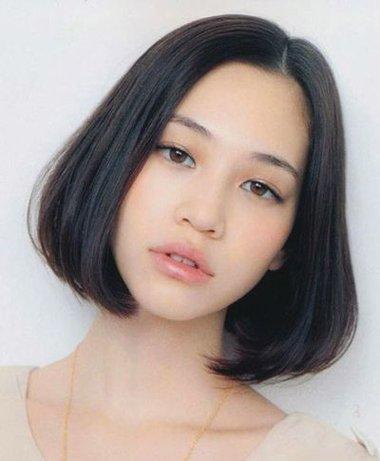 妹妹头适合方形脸吗 脸方大妹妹头发型图片