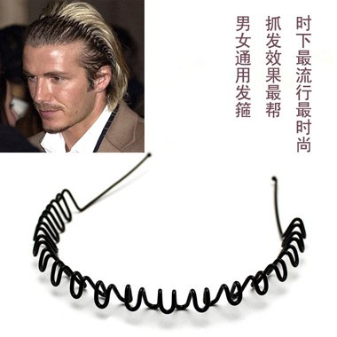 男士戴发箍方法步骤 耍出男生威风感的发型设计