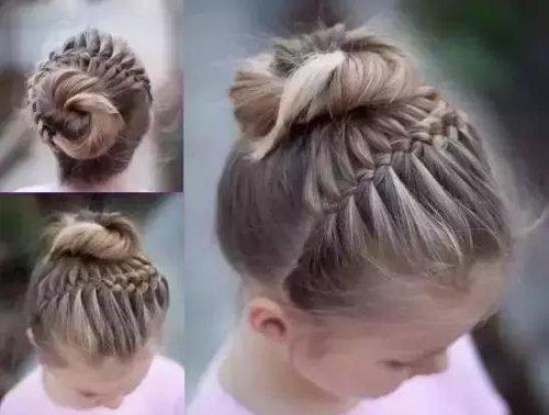 小宝宝有没有扎丸子头的好方法 儿童版丸子头扎法有步骤有图解简单多了