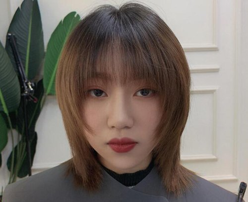 2021年大方脸女生适合的刘海短发安利 大方脸成小脸想不时尚都不行