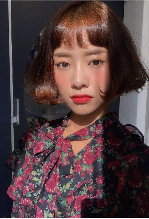女生最萌眉上刘海造型 剪调皮可爱的女生短发示范